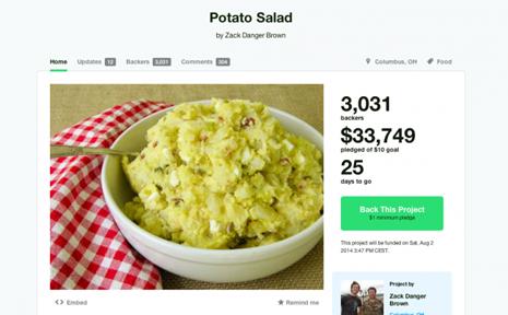 ensalada patatas kickstarter