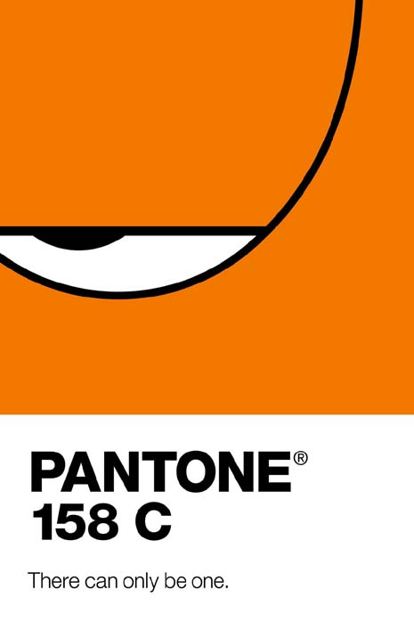 garfield pantone