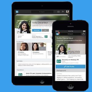 linkedin nuevo perfil en app