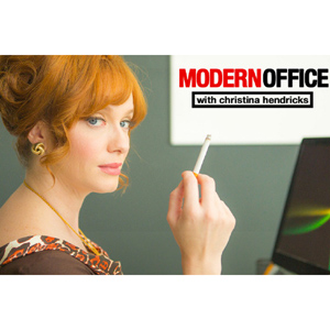 modern office christina hendricks