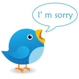 El arte de disculparse en Twitter