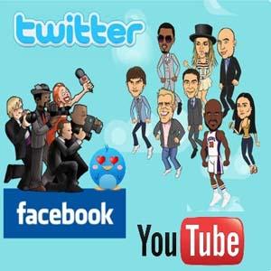 famosos redes sociales