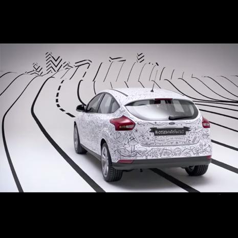 Ford convierte en una obra de arte visual 16 años de experiencias de Ford Focus