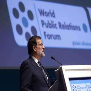 """""""No se puede ser líder sin comunicar"""", Mariano Rajoy en el VIII Foro de la comunicación #WPRF2014"""