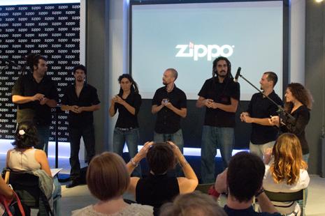 El grupo encargado de amenizar la presentación con los ritmos de Zippo