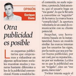Otra publicidad es posible – Enrique Dans