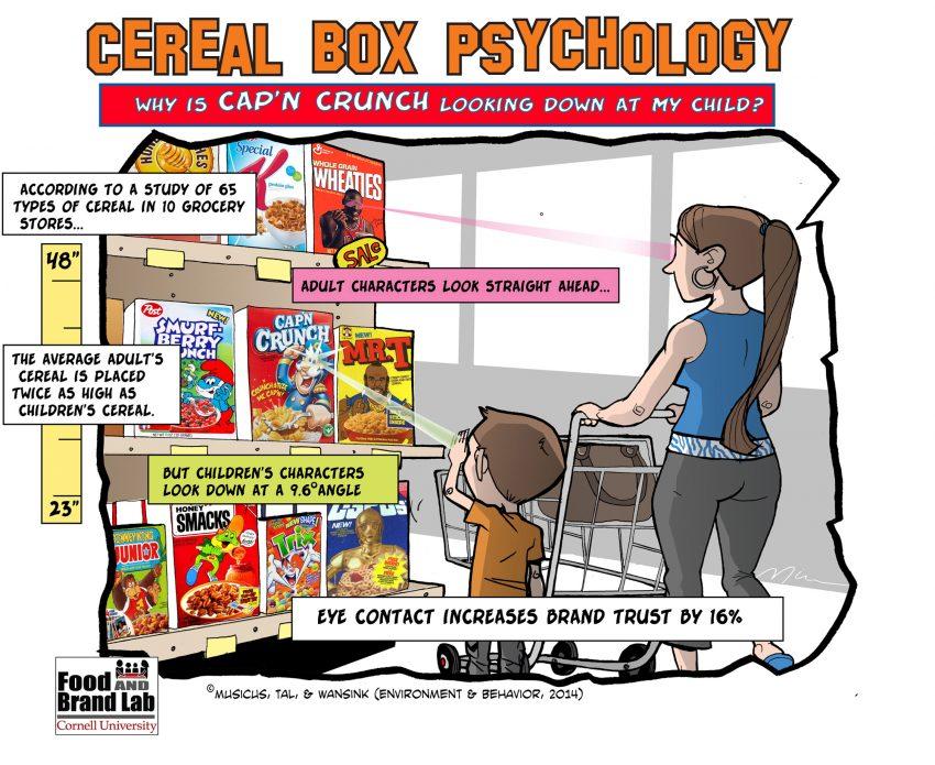 Así es como las cajas de cereales hipnotizan a los consumidores