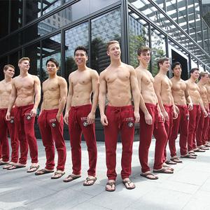 shirtless greeters