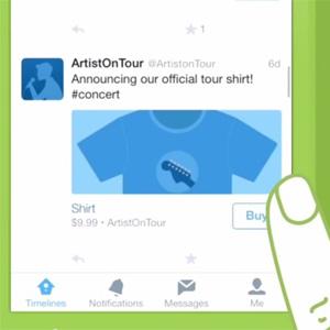 """El botón """"comprar"""" de Twitter hará su debut oficial para el público general a principios de 2015"""
