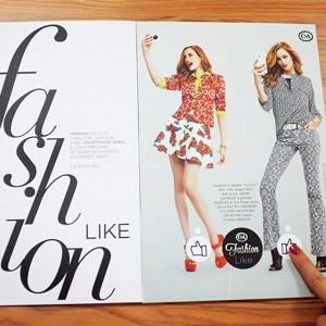 En esta revista los botones