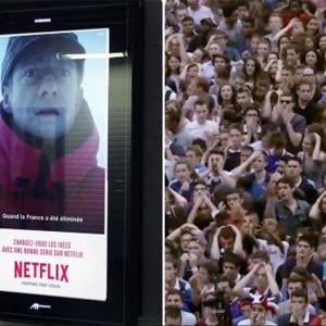 En Francia los anuncios de Netflix son tan
