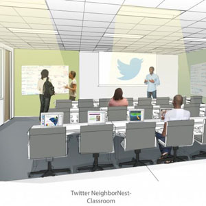 Twitter prepara NeighborNest, un centro de enseñanza tecnológica para gente sin recursos