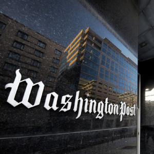 Exterior view of the Washington Post buildings in  Washington, DC.