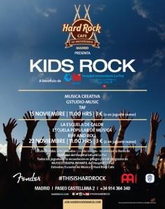 Hard Rock Cafe Madrid celebra el concierto benéfico