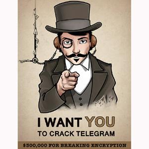 Telegram está tan seguro de su seguridad que regalará 300.000 a quien consiga