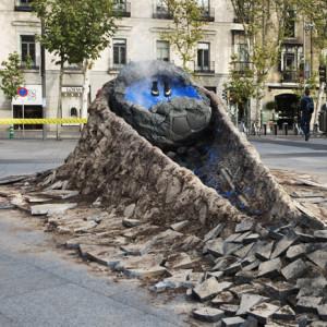 Nike impacta un meteorito en pleno centro de Madrid