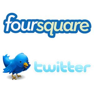 """Rumores sobre una posible alianza entre Twitter y Foursquare que cambiaría las reglas del juego para los """"marketeros"""""""