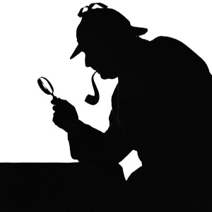 Silhouetted sleuth --- Image by © H. Armstrong Roberts/CORBIS