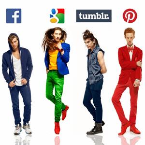 hombres y redes sociales