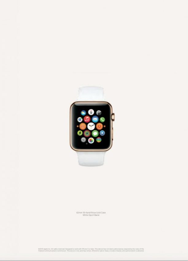 Los primeros anuncios del Apple Watch se estrenan por todo lo alto con 12 centelleantes páginas en Vogue