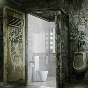 """En esta campaña los baños más nauseabundos del mundo se transforman gracias a la """"magia"""" del papel higiénico"""