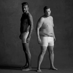 """David Beckham se busca con colega con """"tripita"""" para su último anuncio en paños menores"""