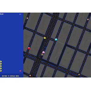 El videojuego Pacman se 'cuela' en Google Maps