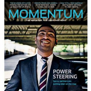 """Uber lanza la revista """"Momentum"""" para mejorar la relación con sus conductores"""