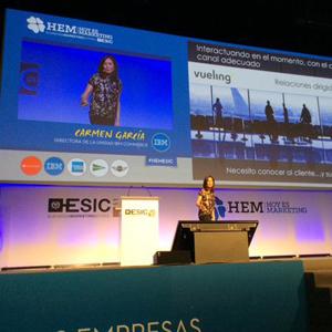 """Carmen García, IBM: """"El reto es el engagement a través del marketing relacional"""" #HEMESIC"""