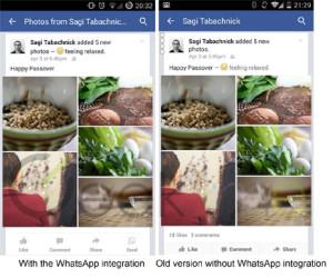 Un botón de WhatsApp se hará hueco muy pronto en Facebook