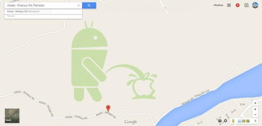 Google pide disculpas por el Android haciendo aguas menores en el logo de Apple en Google Maps