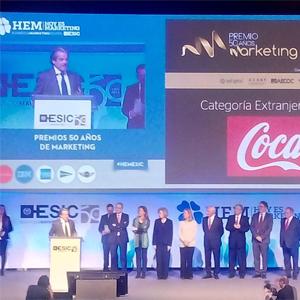 Coca-Cola y El Corte Inglés ganadoras en los premios 50 años de Marketing de #HEMESIC