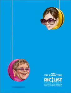 Victoria Beckham y Elton John