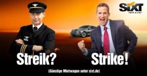 Sixt se disfraza de locomotora y hace así sangre de la huelga de conductores de tren en Alemania