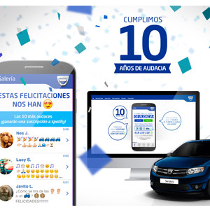 Dacia celebra su 10 aniversario premiando las felicitaciones de Whatsapp más audaces