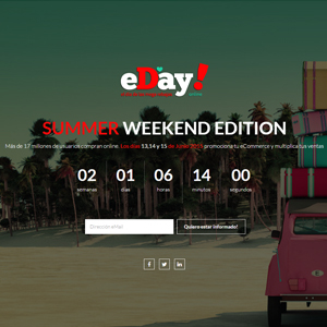 Llega eDay Weekend, la nueva versión extendida del Día de las Rebajas Online