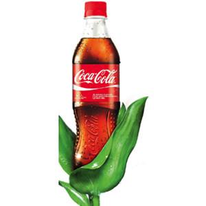 Coca-Cola presenta una botella hecha solo con plantas