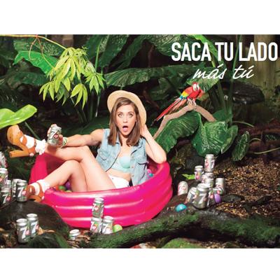 María León saca su lado más divertido con 7up