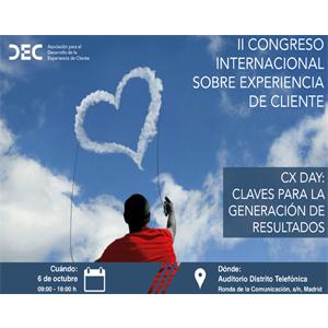 DEC celebrará su II Congreso Internacional sobre Experiencia de Cliente el próximo 6 de octubre