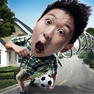 Un trabajador chino convierte un panel de publicidad exterior en, literalmente, un polvorín