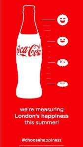 Coca-Cola medirá la felicidad de los londinenses este verano con un