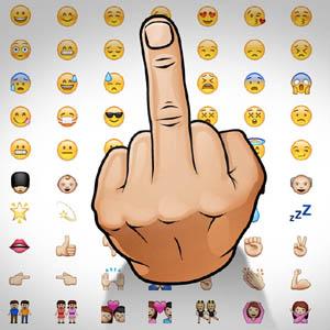 """¿Harto o molesto con alguien? Ahora ya puede enviarle oficialmente una """"peineta"""" por WhatsApp"""