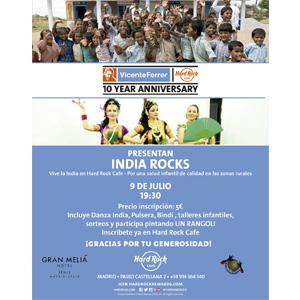 Hard Rock Cafe Madrid colabora con la Fundación Vicente Ferrer por la salud infantil en India