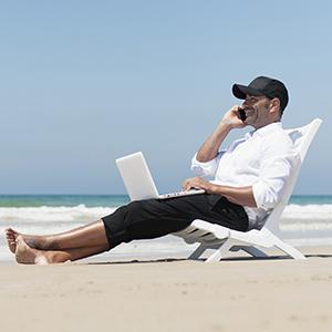 Los trabajadores son incapaces de desconectar en vacaciones