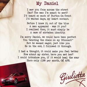 Alfa Romeo envía el tuit más personalizado (y poético) de la historia a un fan que ha perdido el coche de sus sueños