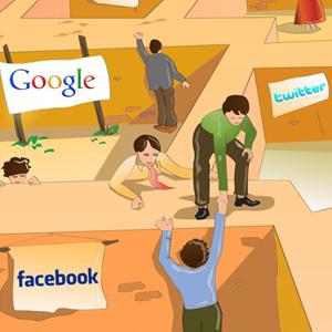 jardin amurallado laberinto google facebook twitter gigantes tecnologia