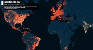 Crean un mapa para localizar a los usuarios de Ashley Madison de todo el mundo