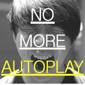 stop no more autoplay autoreproduccion video reproduccion automatica