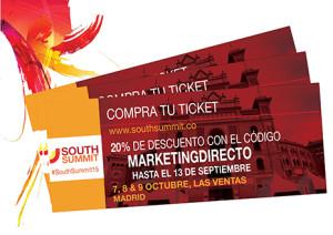 Marketing Directo ofrece un 20% de descuento en las entradas de South Summit