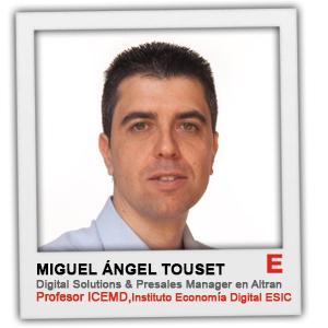 """""""La creatividad y la innovación son ejes fundamentales para conjugar los cambios tecnológicos y culturales"""" Miguel Ángel Touset (Altran España)"""